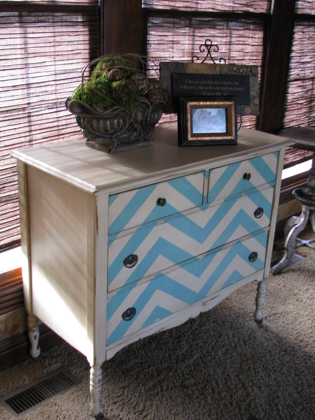 chevron dresser