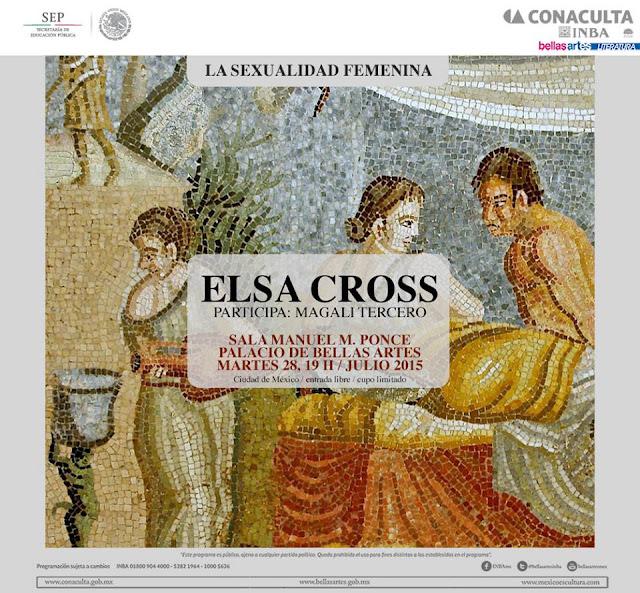 """El ciclo """"La sexualidad femenina"""" presentará la obra de Elsa Cross en el Palacio de Bellas Artes"""
