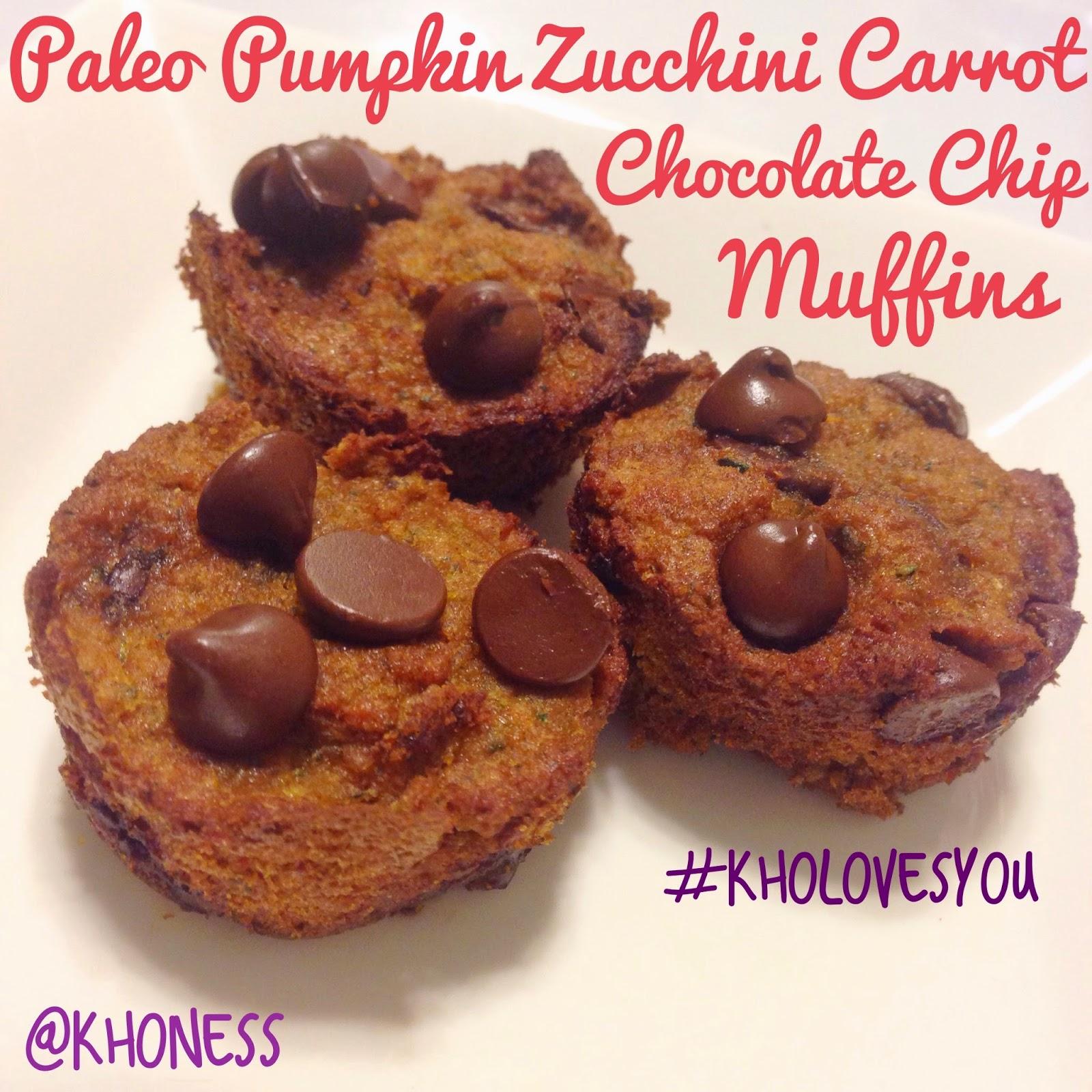 ... Loves You!: Paleo Pumpkin Zucchini Carrot Chocolate Chip Mini Muffins