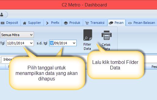 C2 Metro - Filter data