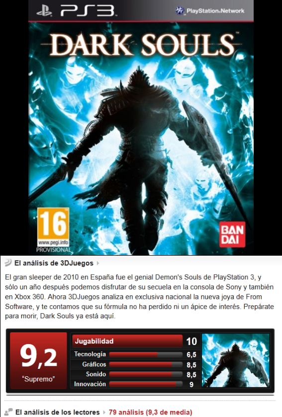 Dark Souls [Ing/Esp][3.55][PS3]