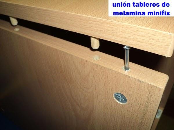 Tornillos autoperforantes y tornillos minifix uniones para - Tornillos para muebles ...