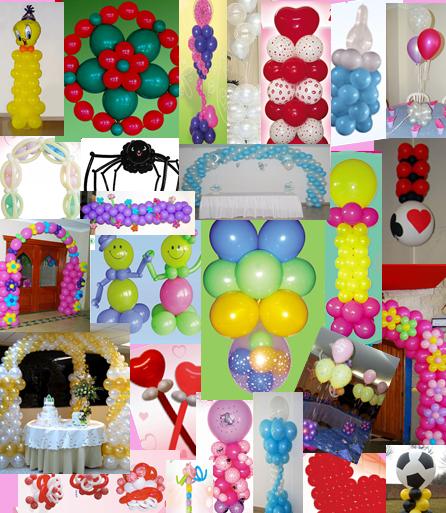 Manualidades ampaher decoraciones con globos - Manualidades con globos ...