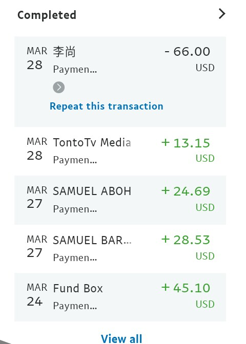 PayPal payment refund