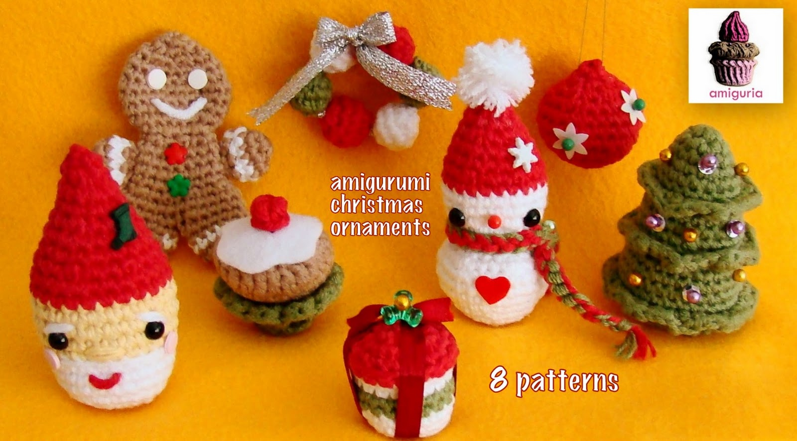 Crochet Patterns Xmas : xmas patterns for more amigurumi xmas ornaments visit my etsy store ...