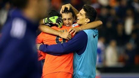 Liga Spanyol : Valencia 0-1 Barcelona