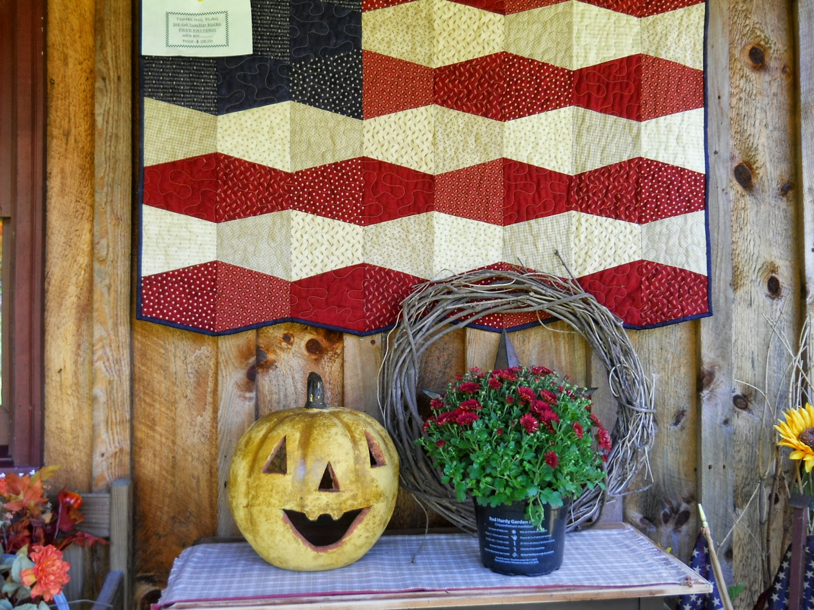 Quilted crow fall decorating for Home goods fall decorations