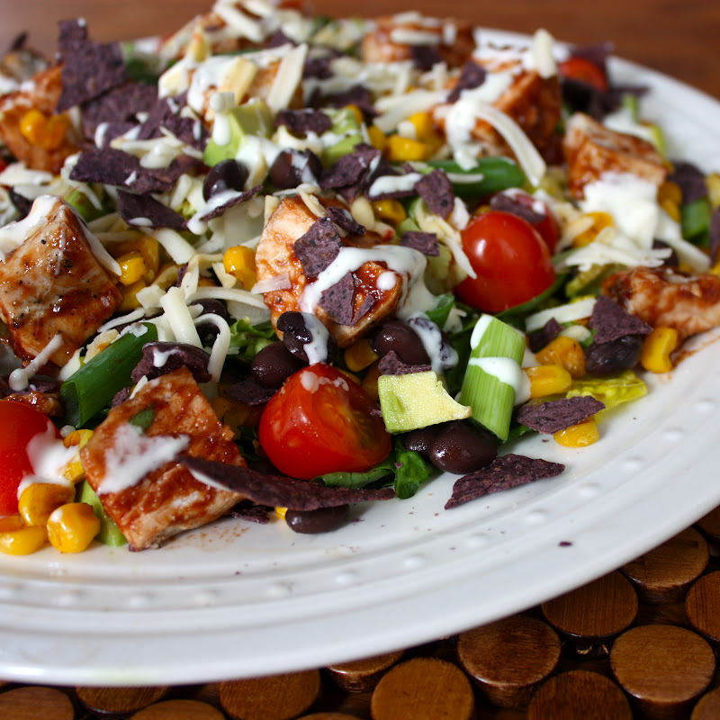 Bbq Ranch Chicken Salad Get Off Your Tush And Cook