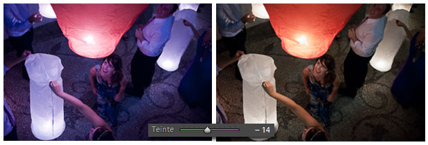 Lightroom - balance des blancs teinte