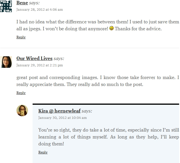 Wordpress Nested Threaded Comments Reply