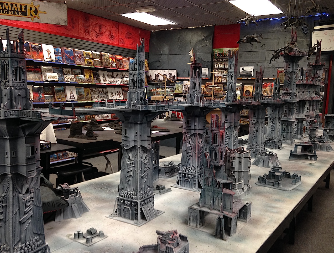 Game nail color workshop - More Than That Check Out The Apocalypse Sized Gaming Table Toward The Back Of The Store As Well