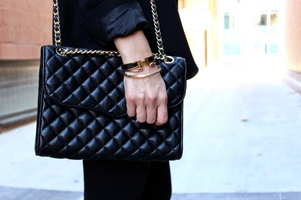black rebecca minkoff quilted affair bag