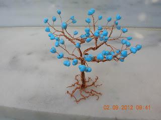Το δέντρο της αγάπης (σύρμα- χάντρες