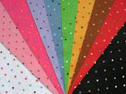 Fieltro con topos de colores
