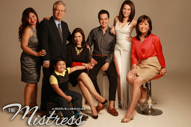 The Mistress Cast - Minnie Aguilar, Ronaldo Valdez, Hilda Koronel, Clarence Delgado, John Lloyd cruz and Bea Alonzo - with Direk Olive Lamasan