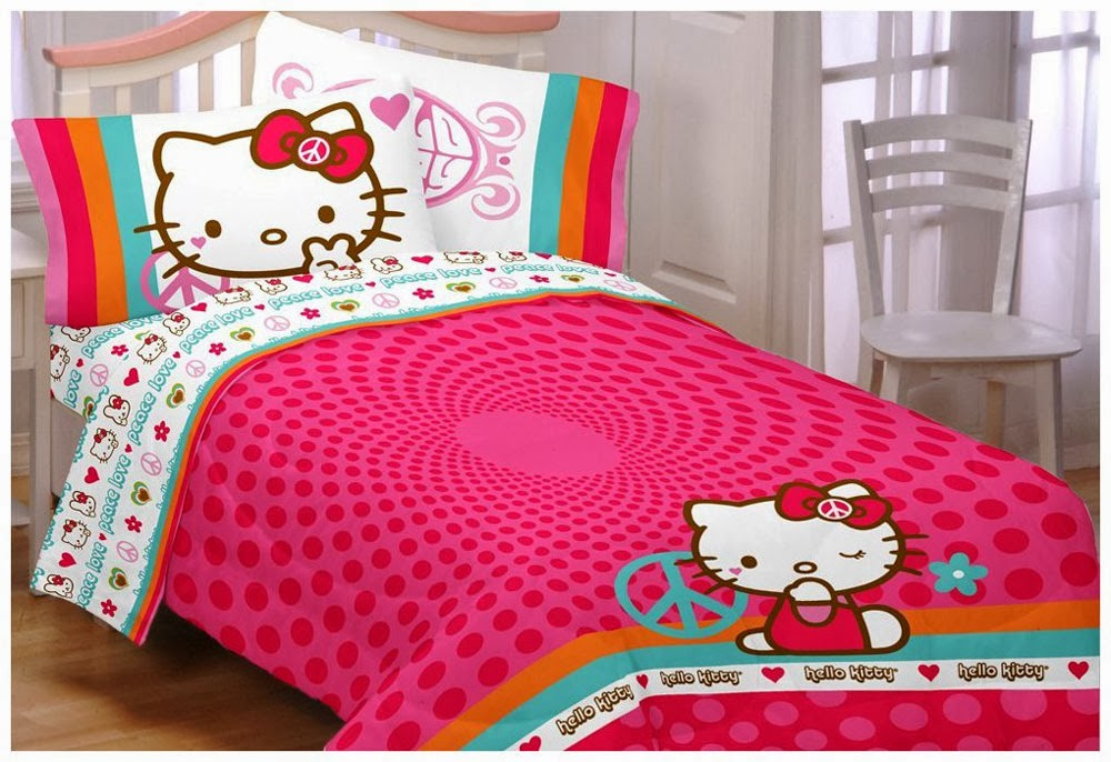 foto hello kitty jadi inspirasi kamar tidur nuansa pink