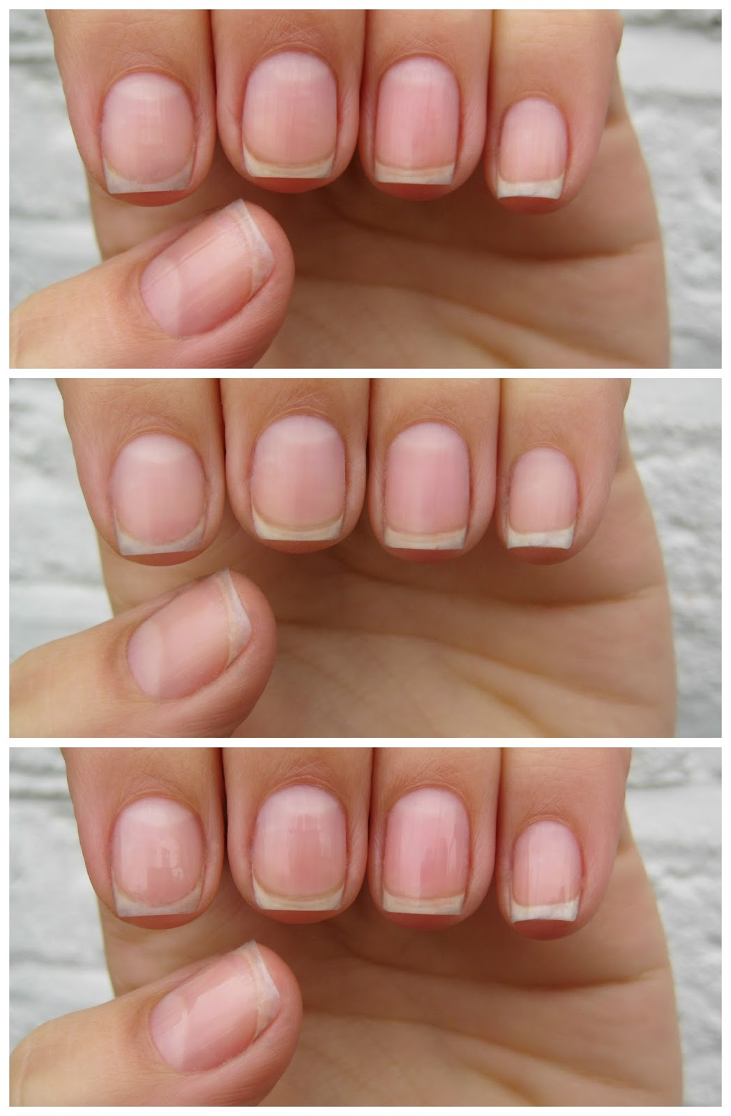 The Trio Of Photos Above Show My Nails Before During And After You Can See By Middle Photo How Well First Roller Smoothed Out Ridges