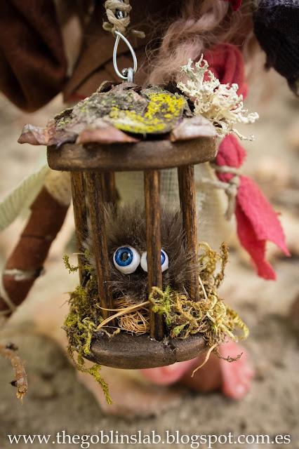 Fantasy artdoll handmade creature traveller goblin