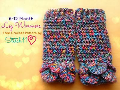 free crochet pattern baby leg warmers