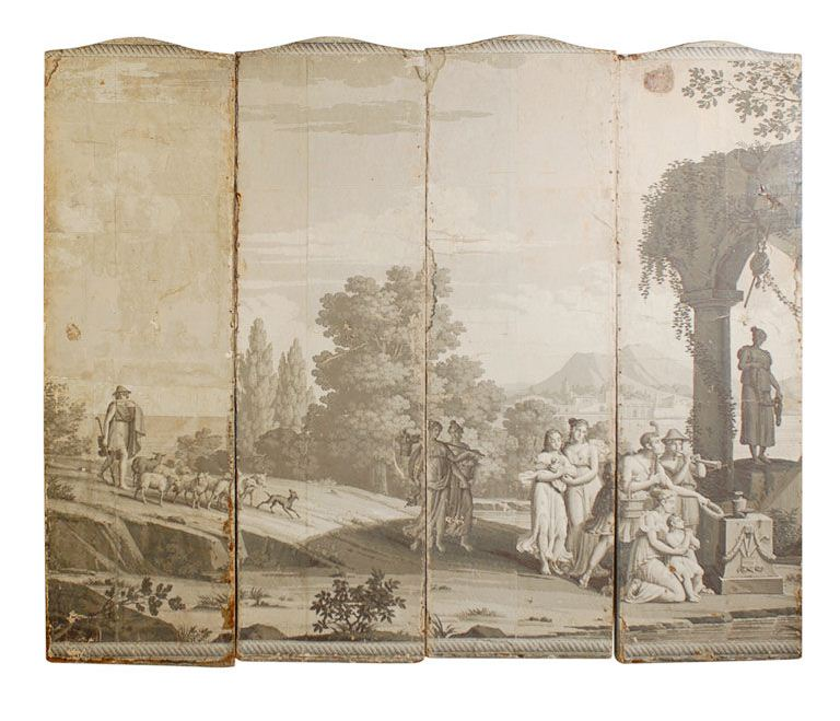 Cococozy cheap to chic pastoral murals for Anthropologie etched arcadia mural