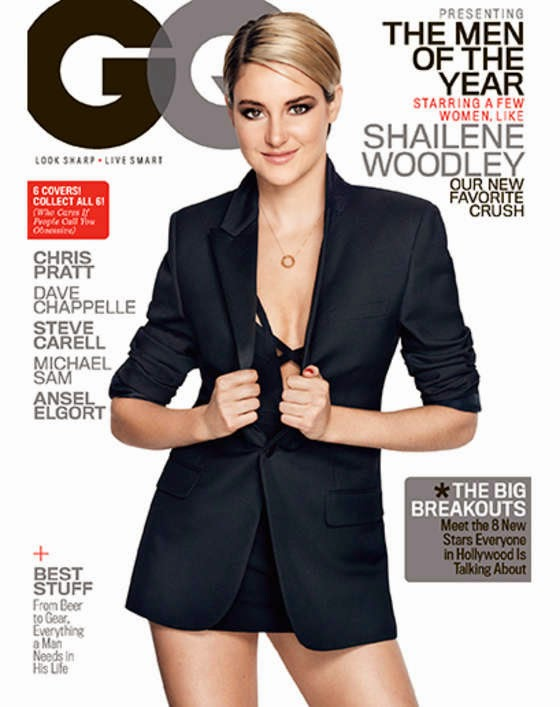 Shailene Woodley shows off cleavage for GQ US December 2014 cover