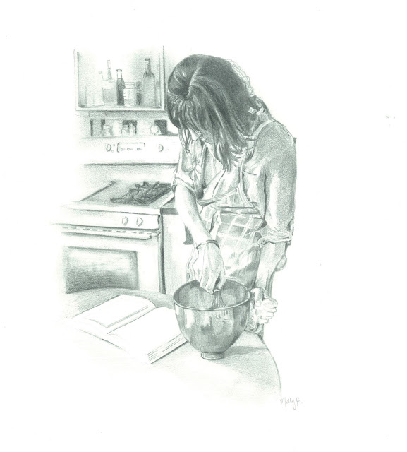 Illustration of Emily Hilliard of Nothing in the House by Molly Reeder