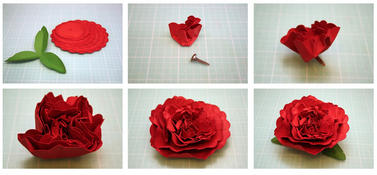 Bits Of Paper 3d Carnation And Hydrangea Paper Flowers