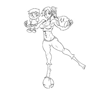 #18 Wii Fit Trainer Coloring Page