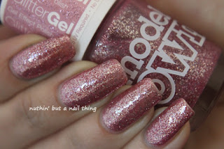 Models Own Glitter Gel Collection Crystal Pink