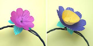 flores de forminhas de cupcakes