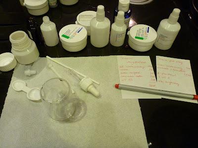 Serum migdałowe oraz serum pod oczy - produkcji własnej