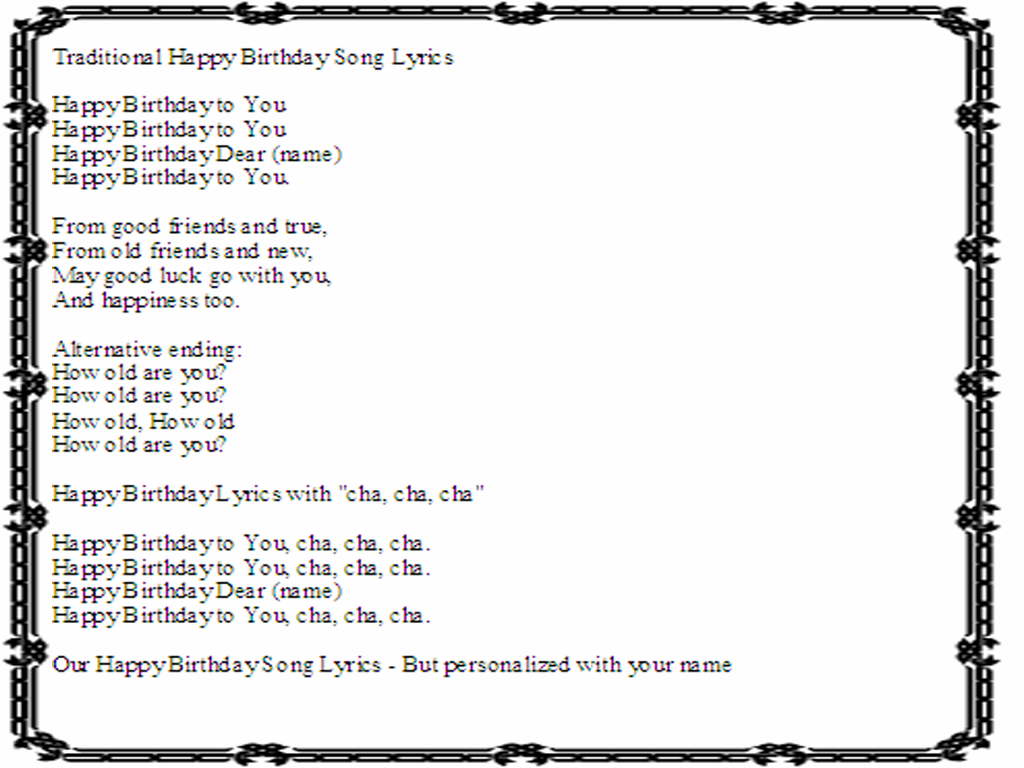 happy birthday song in spanish: