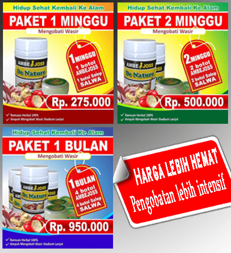 Paket Pengobatan ambeien atau wasir ambejoss dan salep salwa dari de nature indonesia