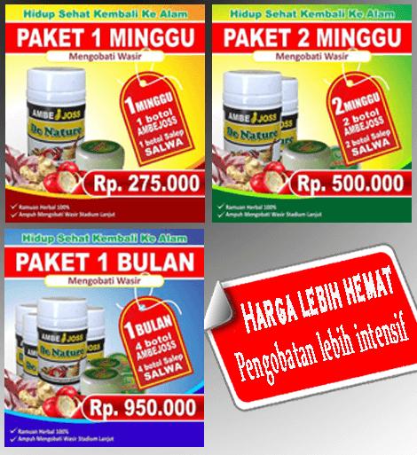 Paket Pengobatan ambeien atau wasir ambejoss dan salep salwa dari de nature indonesia