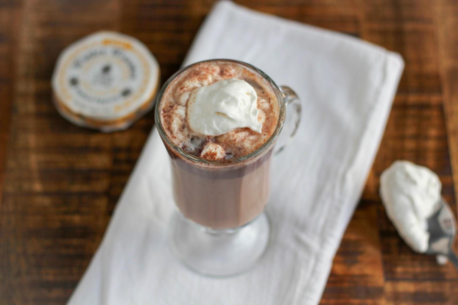 Spiced Eggnog Hot Cocoa | The Chef Next Door