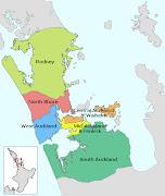 Auckland Map City Regional