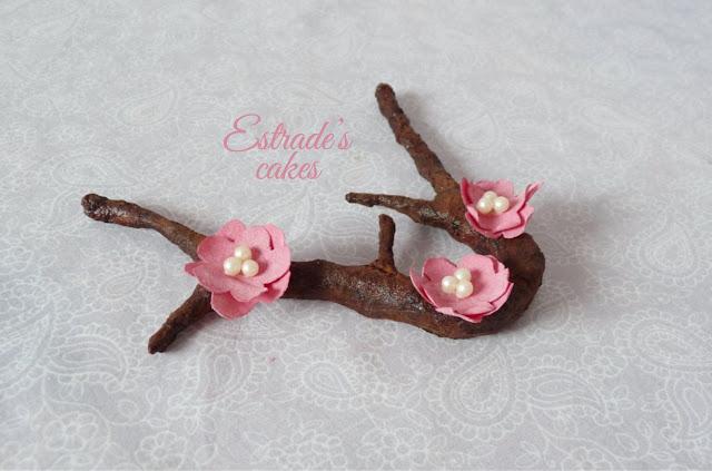 flor de cerezo de papel de arroz 2