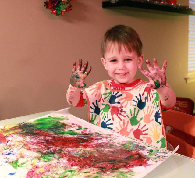 Kid Finger Painting Ideas