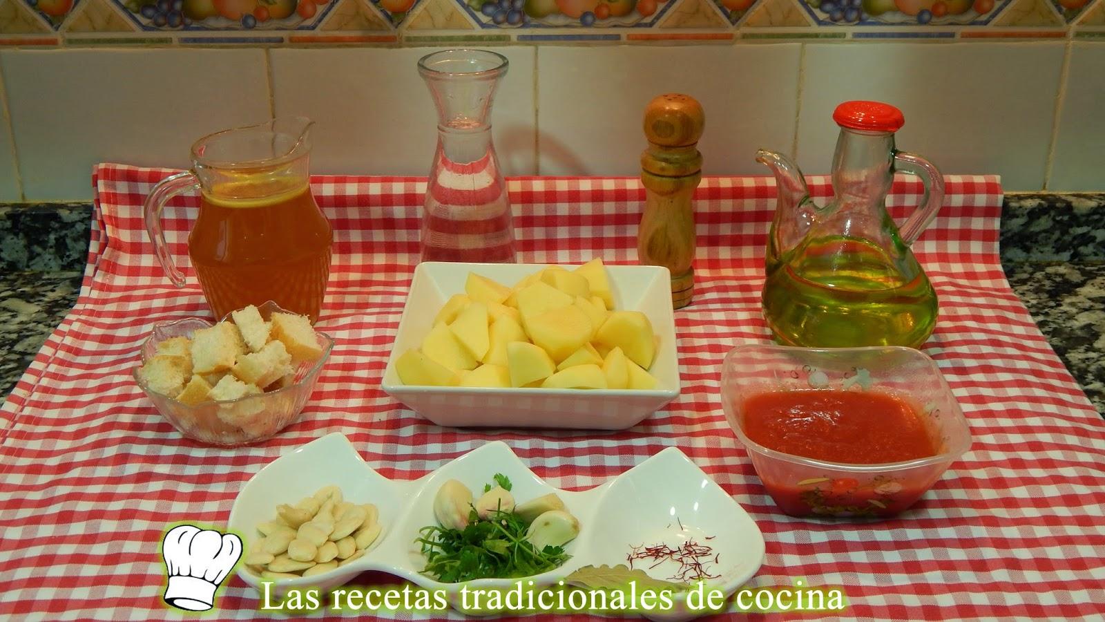 Reecta de ajopollo de patatas