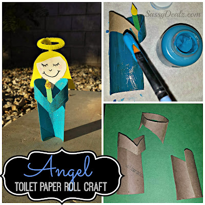 angel toilet paper roll craft