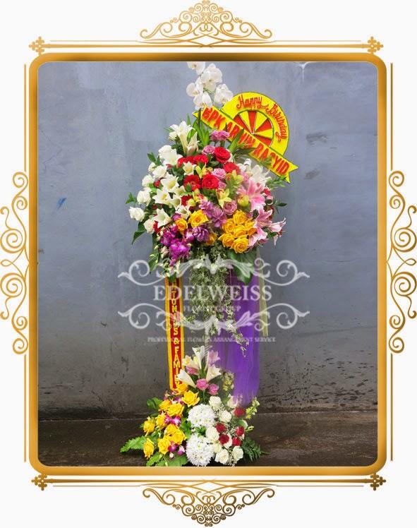 bunga standing ucapan peresmian kantor