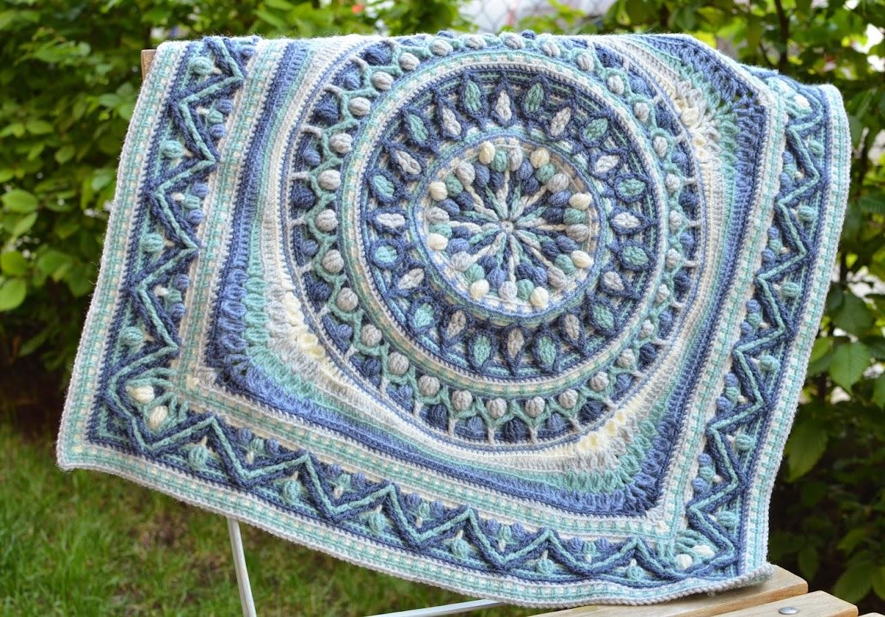 Dandelion Mandala in square