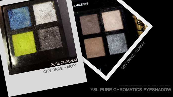 YSL Fall 2013 Makeup Collection Pure Chromatics Eyeshadow Palettes City Drive Arty Classy Beauty Blog Photos Swatches