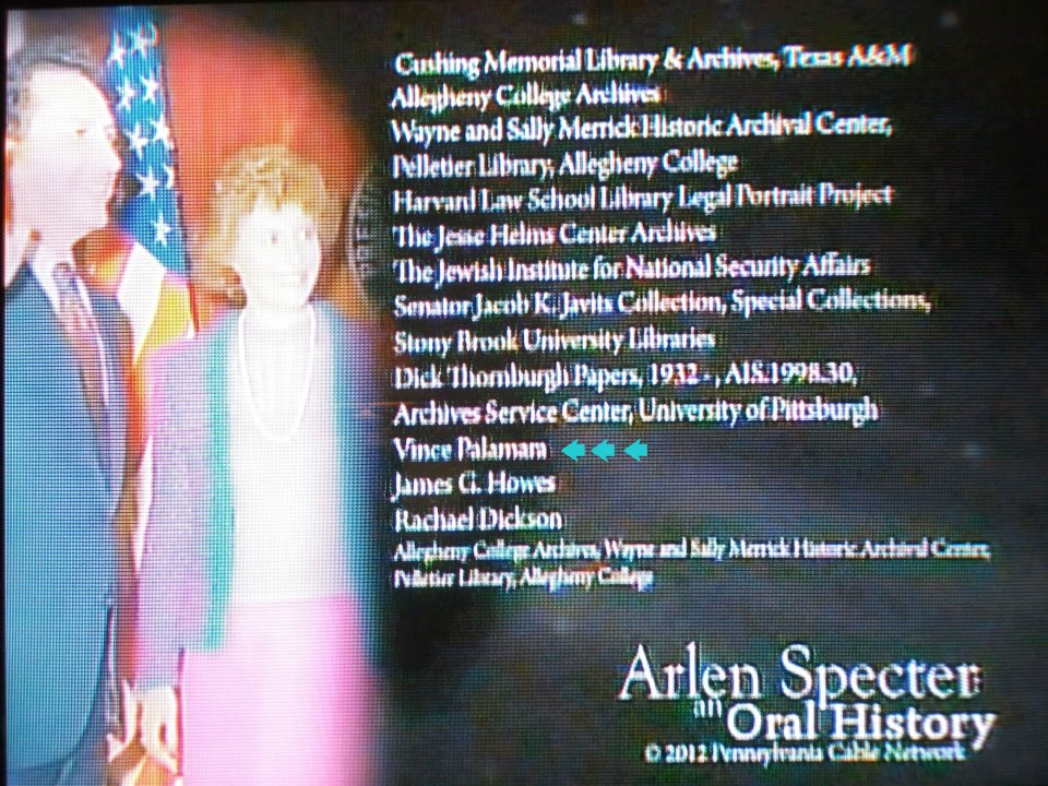 How I got ole Arlen Specter to talk for the cameras :) CLICK ON THE PHOTO FOR ONE OF THE VIDEOS