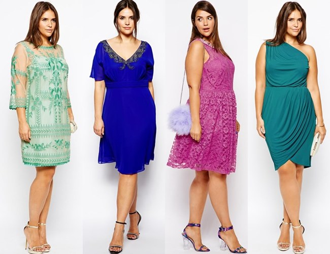 Fall Winter Plus Size Guest Dresses 2015