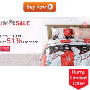 Paytm : Raymond Home producs Extra 55% Cashback  – Buytoearn