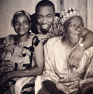 Ice Prince with his Grand mom and dad