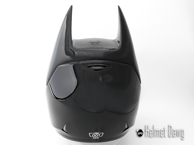 Capacete do Batman (parte de trás) - Dark as Night - Helmet Dawg
