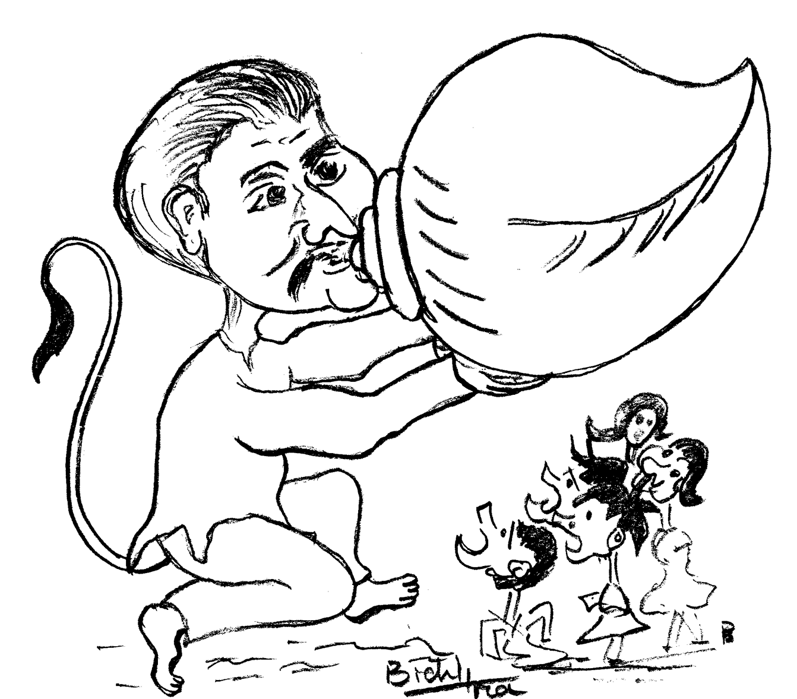 Line Leader Cartoon Srikant jena cartoon