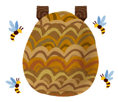 スズメバチの巣のイラスト